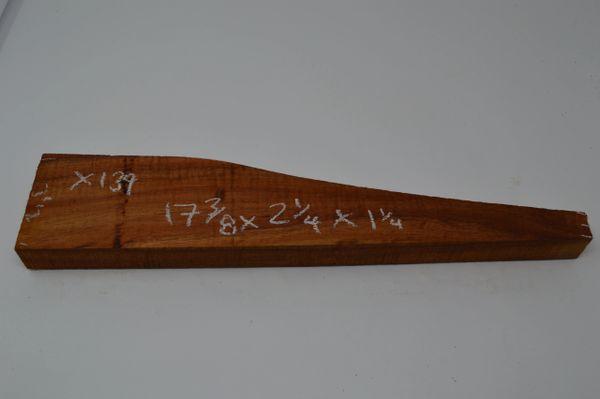 Hawaiian Koa Board Curly 1 1/4 #X-139