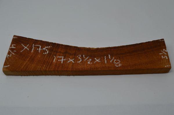Hawaiian Koa Board Curly 1 1/8 #X-175