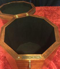 Hawaiian Koa Freemason's Nonagon Hat Box
