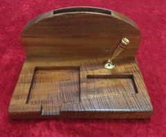 Hawaiian Koa Desk Organizer