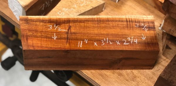 Hawaiian Koa Turning Block Curly