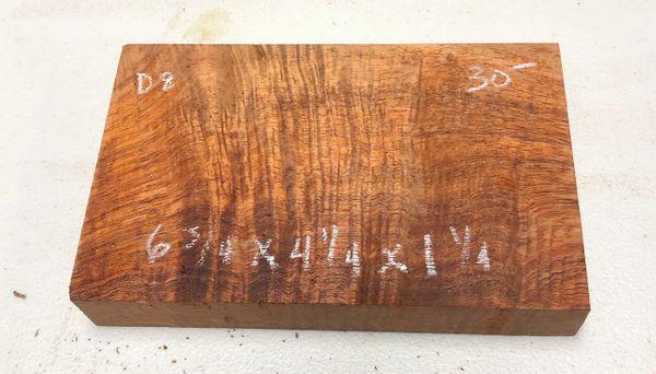 Hawaiian Koa Board Curly 1 1/4 #D-8
