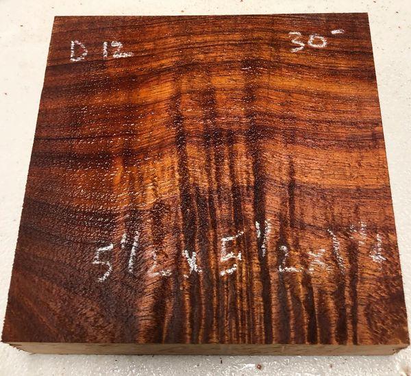 Hawaiian Koa Board Curly 1 1/4 #D-12