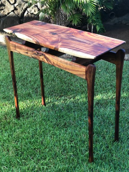 Koa Floating Top side table