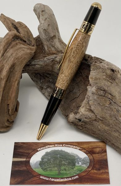 Hawaiian Koa Pacifica Pen (Turtle band Inlay)