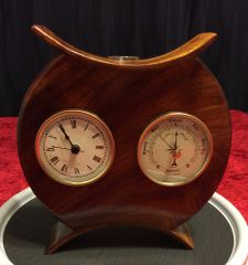 Hawaiian Koa Asian Inspired Clock/Barometer Bud Vase