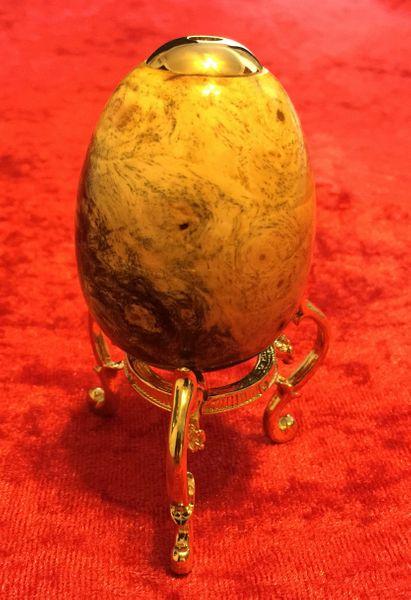 Buckeye Burl Kaleidoscope Egg (Made to Order)
