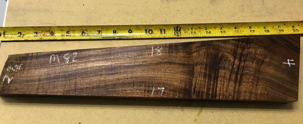 Hawaiian Koa Board Curly Chocolate 4/4 #M-82