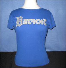 Detroit Streetwear Ladies - Blue (silver glitz)