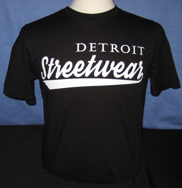 Detroit Streetwear T-shirt Black (white print)