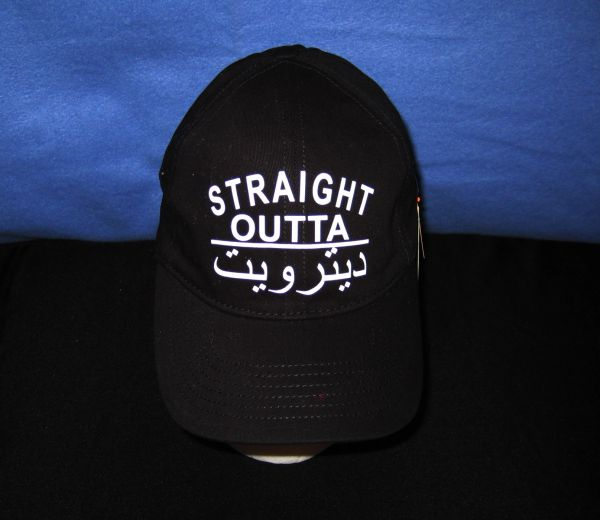 Straight Outta Detroit-Arabic (black)
