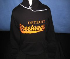 Streetwear Hoodie Black Orange