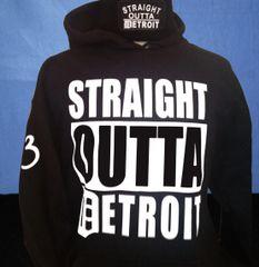 Straight Outta Detroit - Black Hoodie
