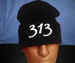 313 Black Skull Cap