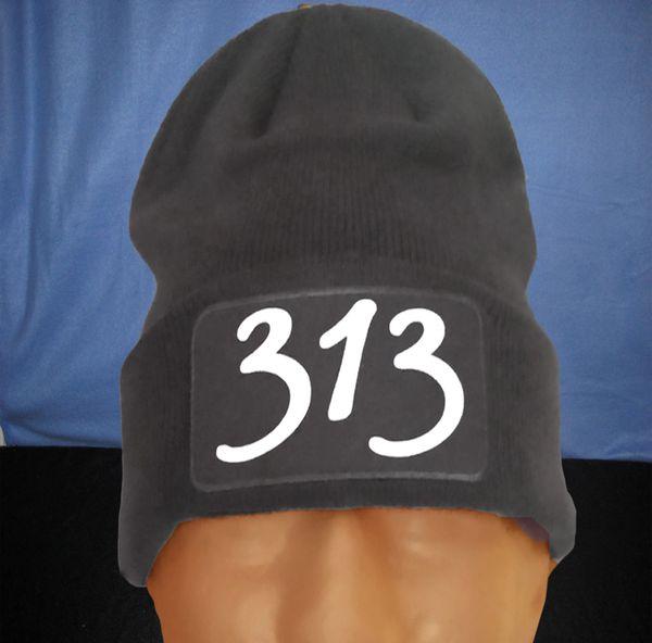 313 Gray Skull Cap