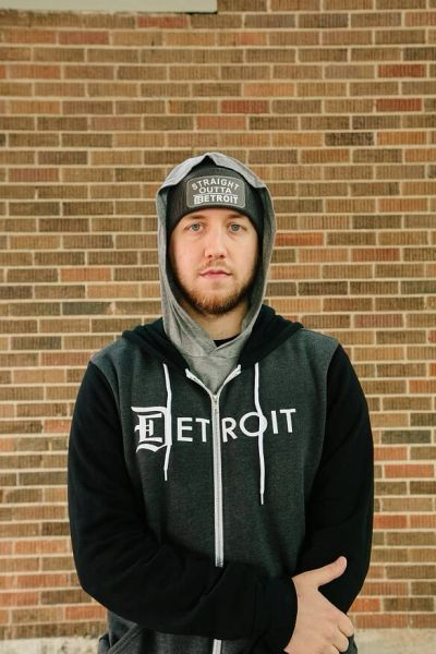 Detroit Zip Up Hoodie - Heather Gray/Gray or Black