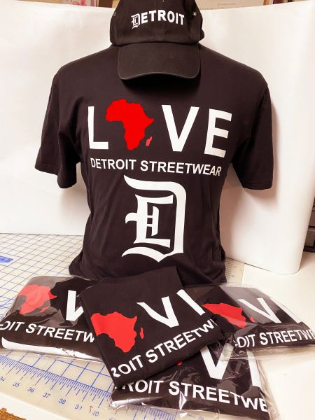 Love - Detroit Streetwear Africa - Black (t-shirt only)