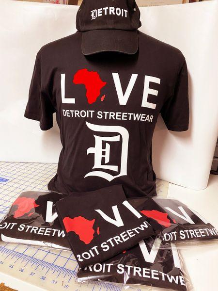 Love - Detroit Streetwear Africa - Black (t-shirt only)