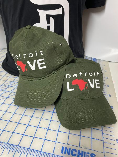 Detroit Love Africa - Green Cap