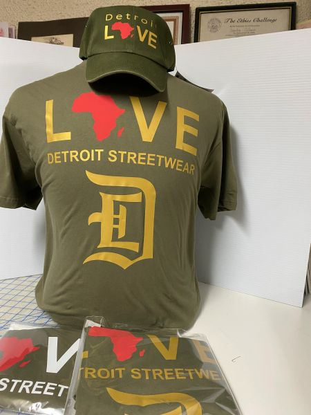 Love - Detroit Streetwear Africa - Military Green (t-shirt only)