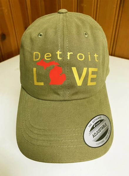 Detroit Love Michigan - Millitary Green Cap