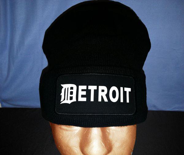 Detroit - Black Skull Cap