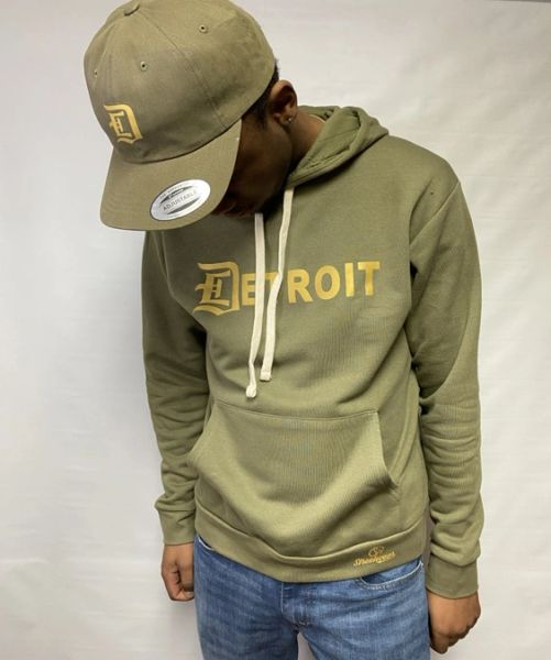 Detroit Pullover Hoodie -Military Green
