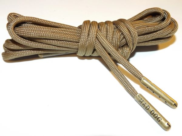 a3ac52b51b793 Military Spec 550 Para Cord Boot Laces Coyote Brown | Mad Dog Laces