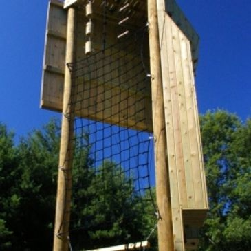 Climbing tower at military base.