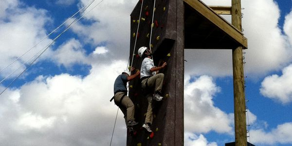 Climbing tower installed in Rocky Mountain area.