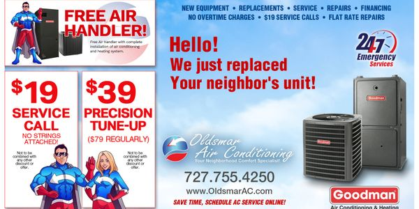 Oldsmar Air Conditioning Offers