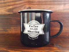 Mug - Black Enamel-Coated Steel with Logo