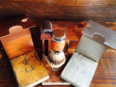 Stand for Brush and Razor - Copper