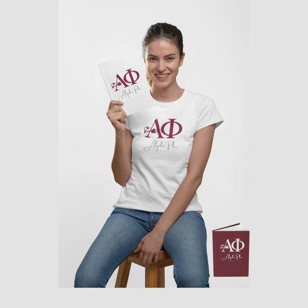 Alpha Phi T-Shirt & Journal Set