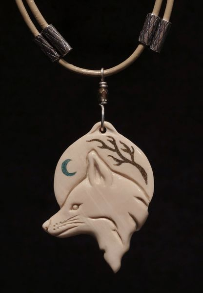 WHITE FOX PENDANT