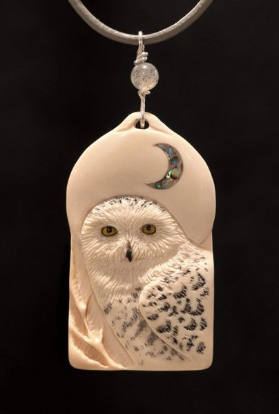 SNOWY OWL PENDANT ~ CAN BE ORDERED ~ INQUIRE
