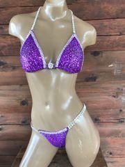 Crystal Burst with Border Sequin Bikini