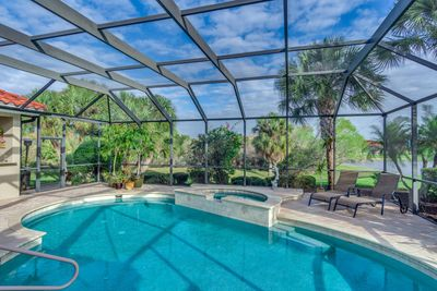 Pool view real estate photo Sarasota County Florida McLaren Real Estate Photography