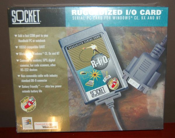 Socket PCMCIA Serial I/O Port Adapter Ruggedized PC Card R-I/O NEW in Box