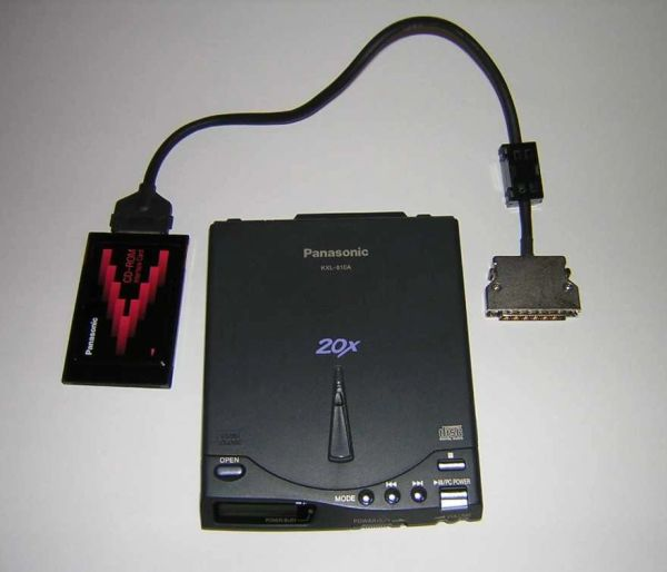 Panasonic Portable External 20x PCMCIA SCSI CD-ROM Drive with Cable Kit KXL-810a