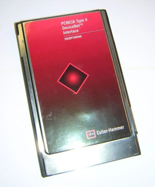 Eaton Cutler-Hammer PCMCIA DeviceNet Interface D930PCMDNA Scanner PC Card
