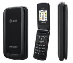 Samsung SGH-A157 Quadband GSM 3G Cell Flip Phone AT&T Black Working with Battery