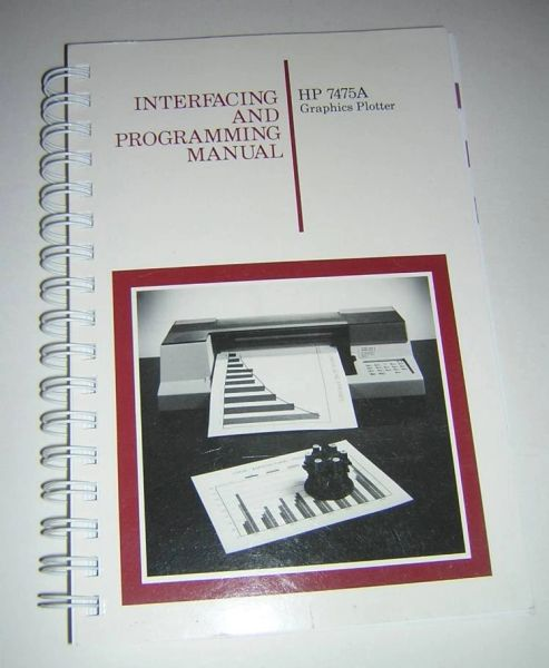 HP 7475A Graphics Plotter Interfacing and Programming Manual