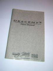 Interplay Descent 3 PC Game Original Printed Pilot's Manual User's Guide