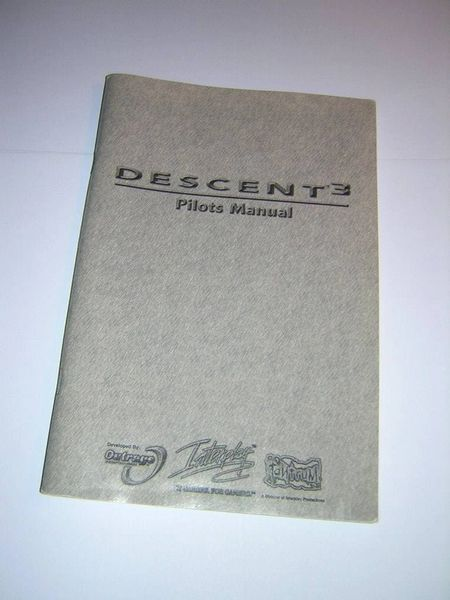 Interplay Descent 3 PC Game Original Printed Pilot's Manual User's Guide