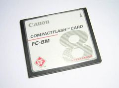 Genuine Canon PowerShot A10 8MB Original CompactFlash CF Memory Card FC-8M