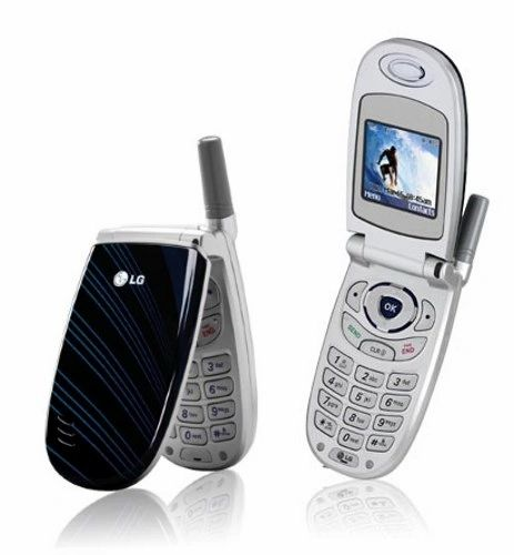LG VX3300 Mobile Cell Flip Phone Verizon Silver/Blue with Battery