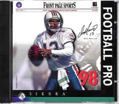 FP Sports NFL Football Pro 98 Game for Windows PC CD-ROM (1997)