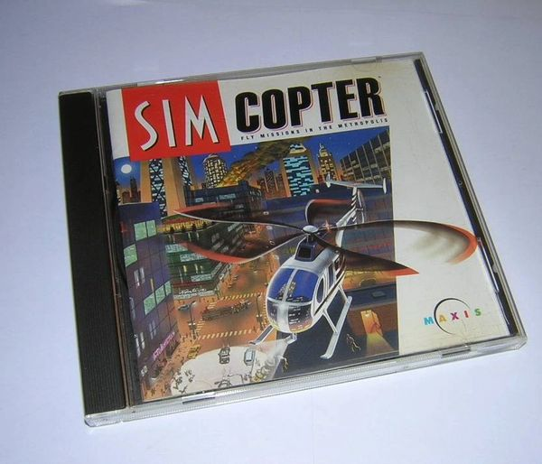Maxis SimCopter Helicopter Simulation Game for Windows PC CD-ROM (1996)
