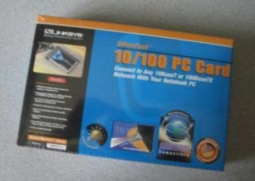 Linksys PCMCIA 10/100 Fast Ethernet LAN PC Card PCMPC100 Kit in Box